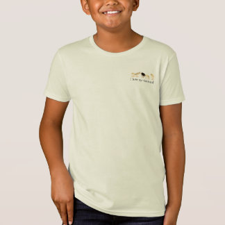 "Kids organic ""i love my chickens"" tee"