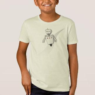 Kid's Organic Runaway Robot T-Shirt (Sketch)