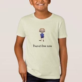 Kids Organic Shirt - Peanut-free zone
