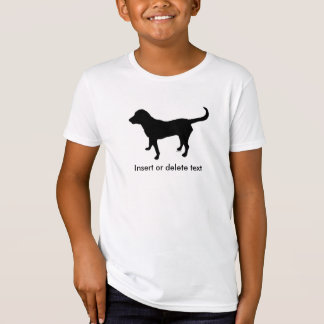 Kid's organic t-shirt black lab silhouette