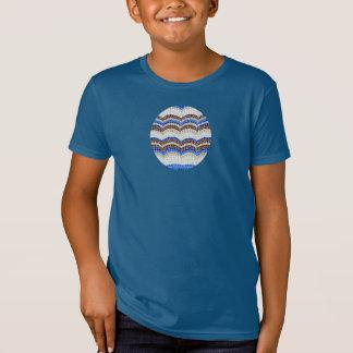 Kids' organic T-shirt with blue mosaic