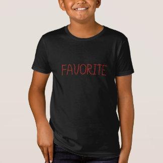Kids' organic T-shirt with 'favorite'