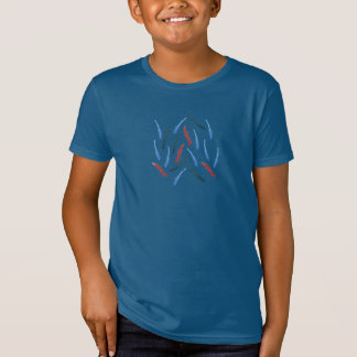 Kids' organic T-shirt with watercolor branches