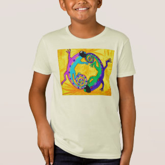 Kids Organic Tee - Groovy Tropical Lizards