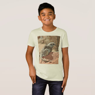 "Kid's Organic Tee ""Ground Squirrel in Cartoon"""