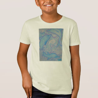 Kids Organic Tee Shirt - Happy Dolphins