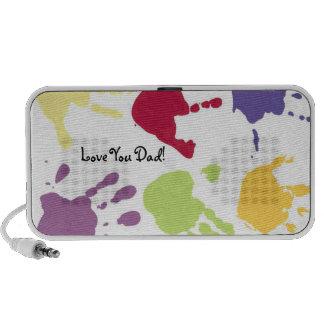 Kids Painted Hands Love You Dad, Doodle Speaker