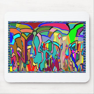 KIDS party giveaway GIFTS Colorful Abstract Art Mouse Pad