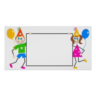 Kids Party Sign Poster