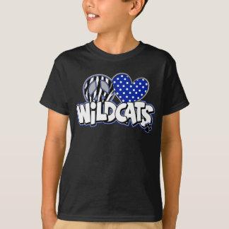 KIDS PEACE LOVE Wildcats SS Black Tee