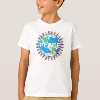 Kids Peace T-Shirt - Children Holding Hands Globe