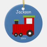 Kids Personalised Christmas Train Ornament