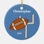 Kids Personalised Football Keepsake Christmas Tree Ornament