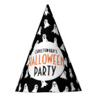 Kids Personalised Ghost Pattern Halloween Party Party Hat