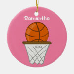 Kids Personalised Girl Basketball Pink Keepsake