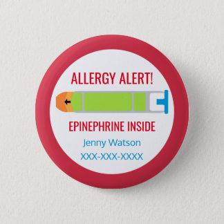 Kids Personalized Allergy Alert Epinephrine Inside 6 Cm Round Badge