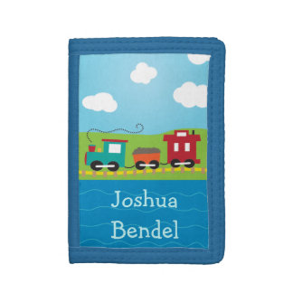 Kids Personalized Choo Choo Train Caboose Wallet