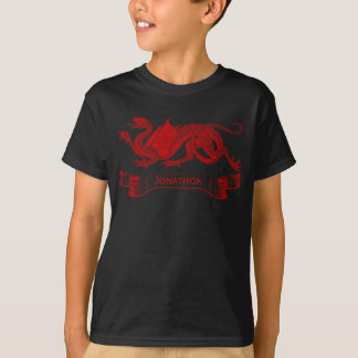 Kid's Personalized Dragon T-shirt