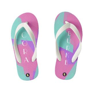 KIDS Personalized Flip Flops (Bubblegum Fun)