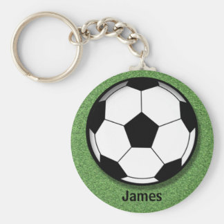 Kids Personalized Soccer Ball Key Chain