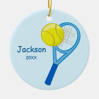 Kids Personalized Tennis Keepsake Round Ceramic Decoration
