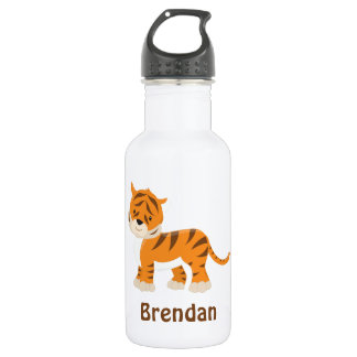 Kids Personalized Tiger 532 Ml Water Bottle