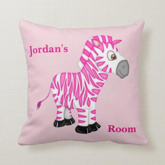 Kid's Pillow Cute Pink Baby Zebra