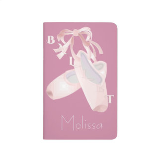 Kids Pink Ballet Personalized Journals