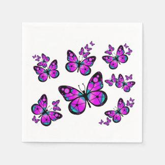 Kids Pink Butterfly Disposable Serviette