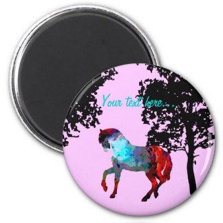 Kids Pink Horse Magnet