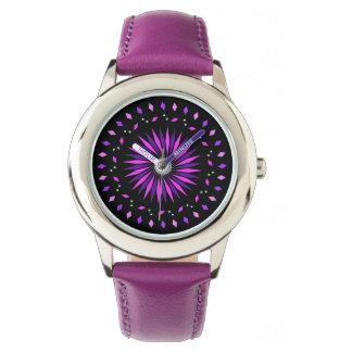 Kids Pink Purple Cosmic Neon Watch