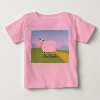KIDs pink t-shirt with little Lamb