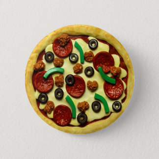 Kids Pizza Birthday Party 6 Cm Round Badge