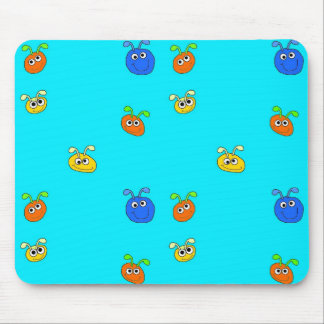 Kid's Placemat Mousepad Light Blue Bugs