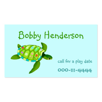 Kid's Play date calling card Business Card Templates