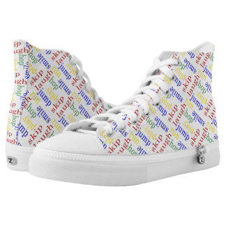 Kids play high tops gym teacher,day care,coach printed shoes