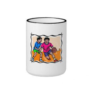 Kids Playing Basketball Mugs