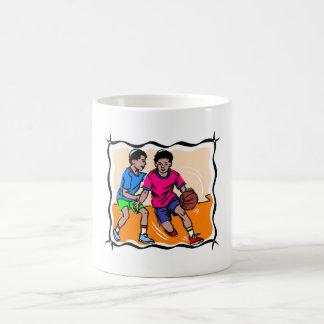 Kids Playing Basketball Coffee Mugs
