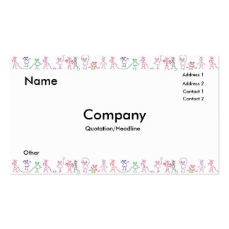 Kids Playing Business Card