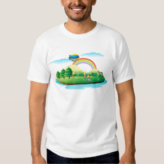 Kids playing in the ground tee shirt