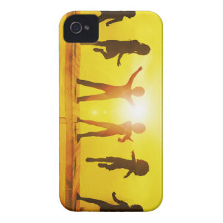 Kids Playing in the Summertime on a Pier iPhone 4 Case