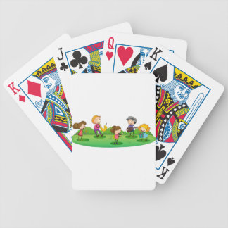 kids playing music playing cards