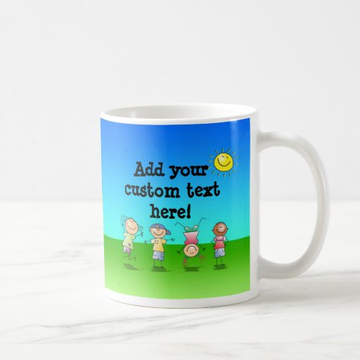 Kids Playing Outdoors on a Sunny Day Coffee Mugs