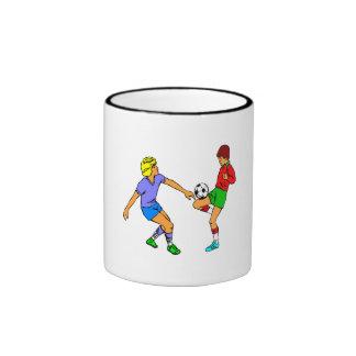 Kids Playing Soccer Coffee Mugs