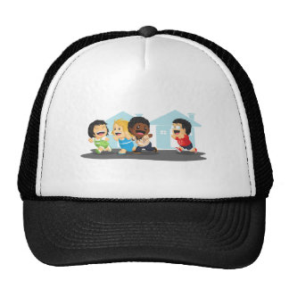 Kids Playing Tag Trucker Hats