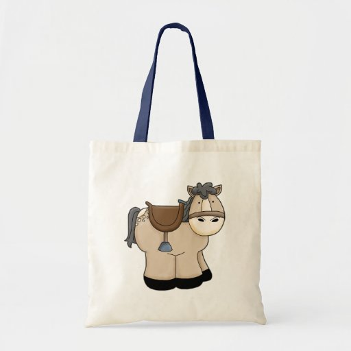 Kid's Pony / Horse and Saddle Budget Tote Bag