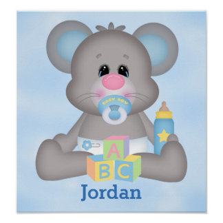 Kid's Poster Cute Baby Mouse