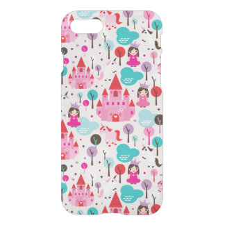 kids princess castle and unicorn iPhone 7 case
