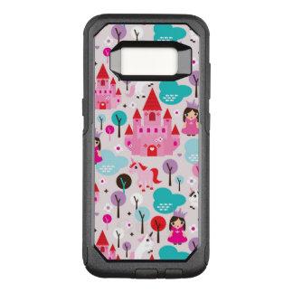 kids princess castle and unicorn OtterBox commuter samsung galaxy s8 case