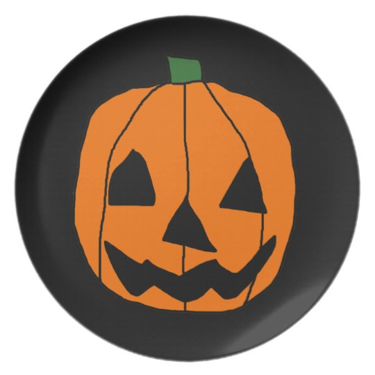 Kid's Pumpkin Halloween Plate